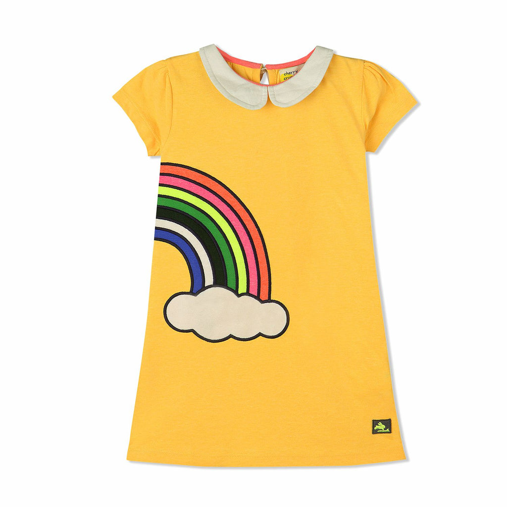 Colorful Applique Dress for Girls