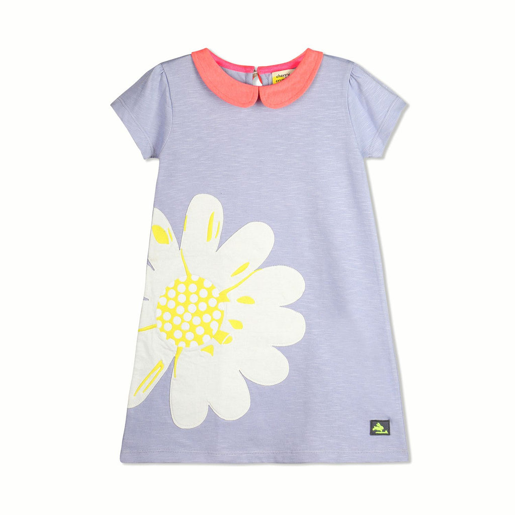 Sun flower Applique Dress  for Girls