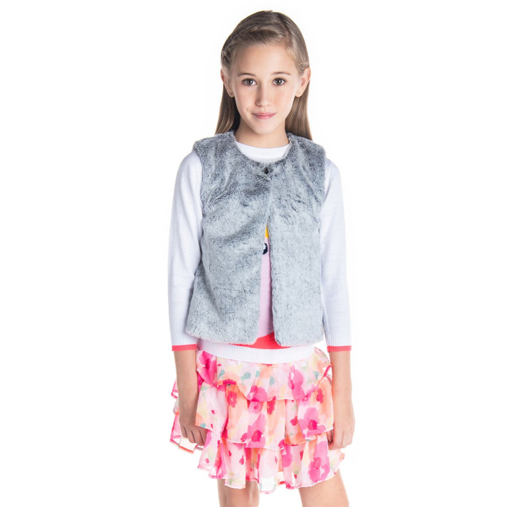 Fluffy Gilet for Girls