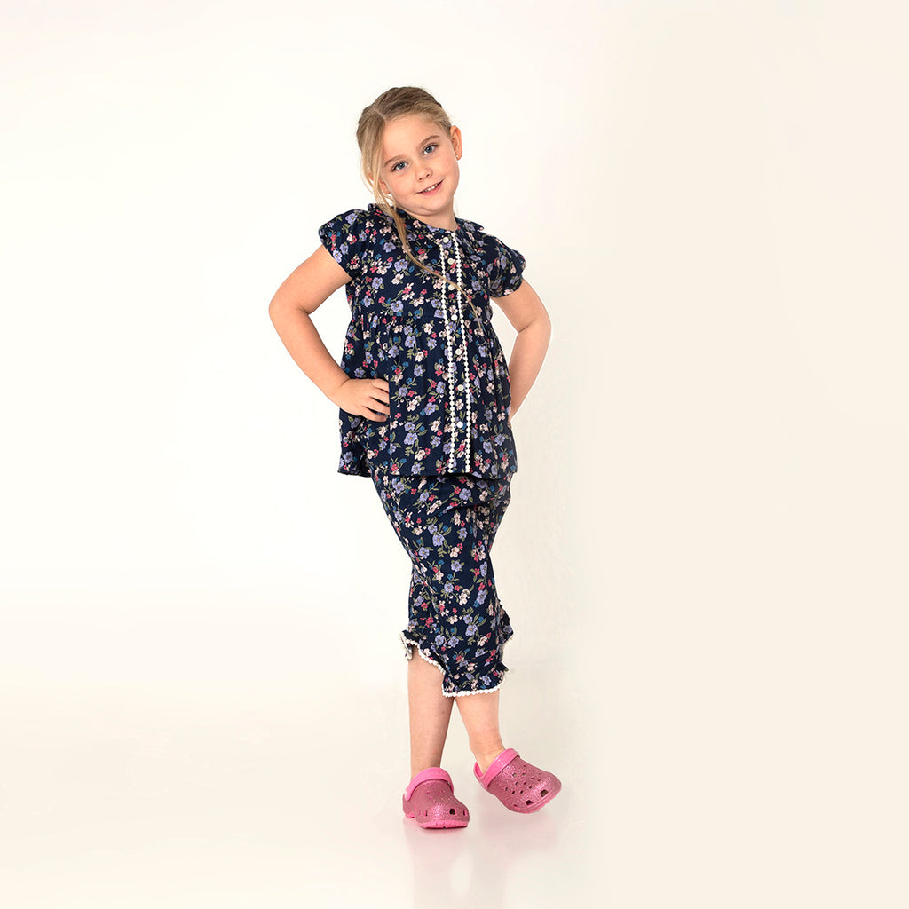 Floral Slumber Nighsuit for  Girls