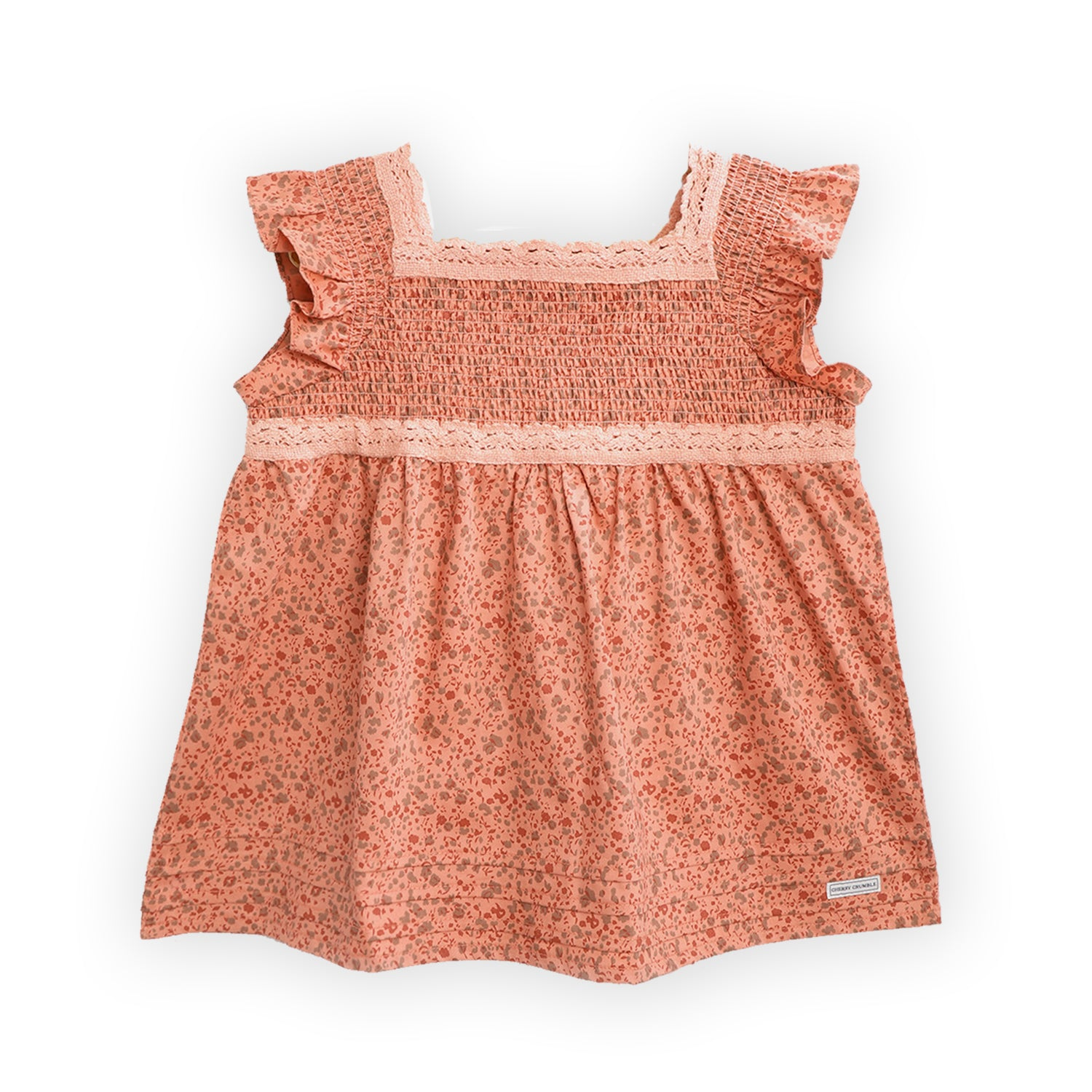 kids-peach ruffle nightsuit-ws-gnsuit-6194pch