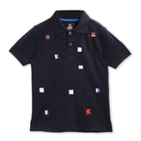 Holiday Embroidered Polo For Boys