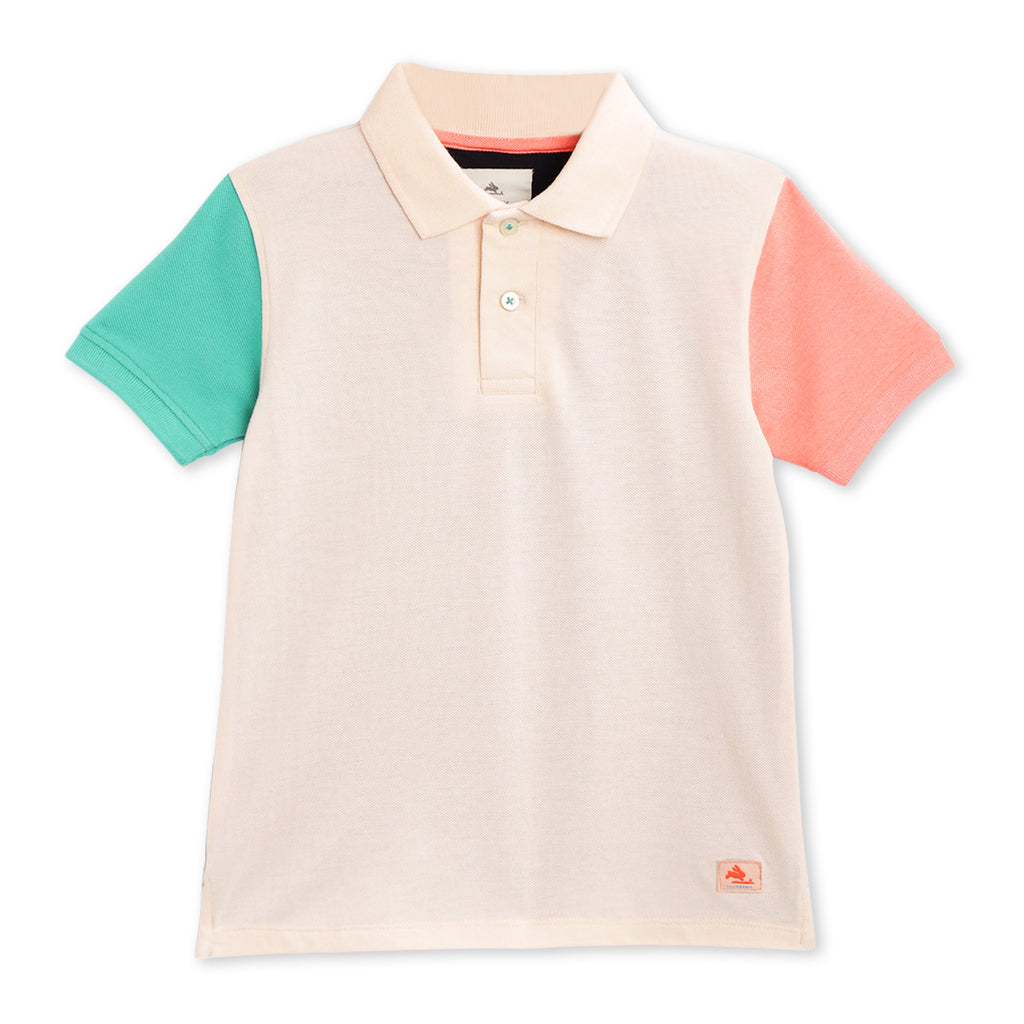 Pastel Pique Polo For Boys