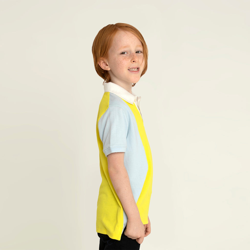 Cherry-Crumble-Kids-Half-Sleeve-Regular-Sleeve-Collared-Colorblock-Polo-Tshirt