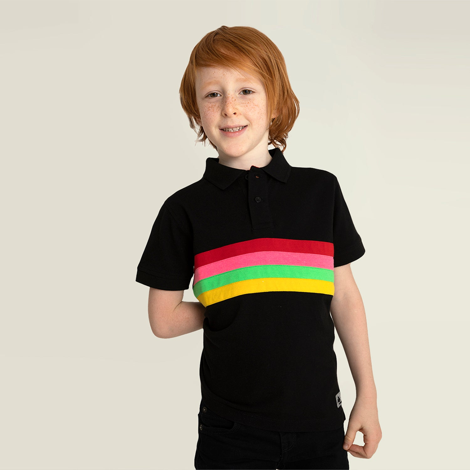 Cherry-Crumble-Kids-Half-Sleeve-Regular-Sleeve-Polo-Neck-Striped-Polo-Tshirt