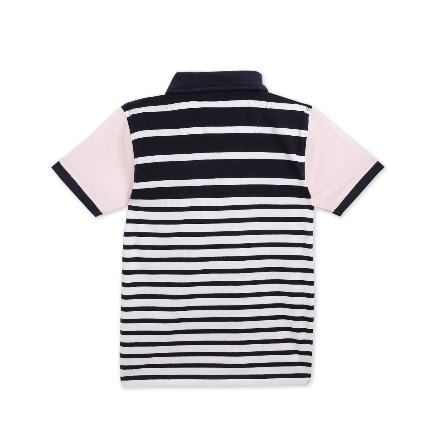 kids-regular striped polo tshirt-ws-hpolo-6148nblu