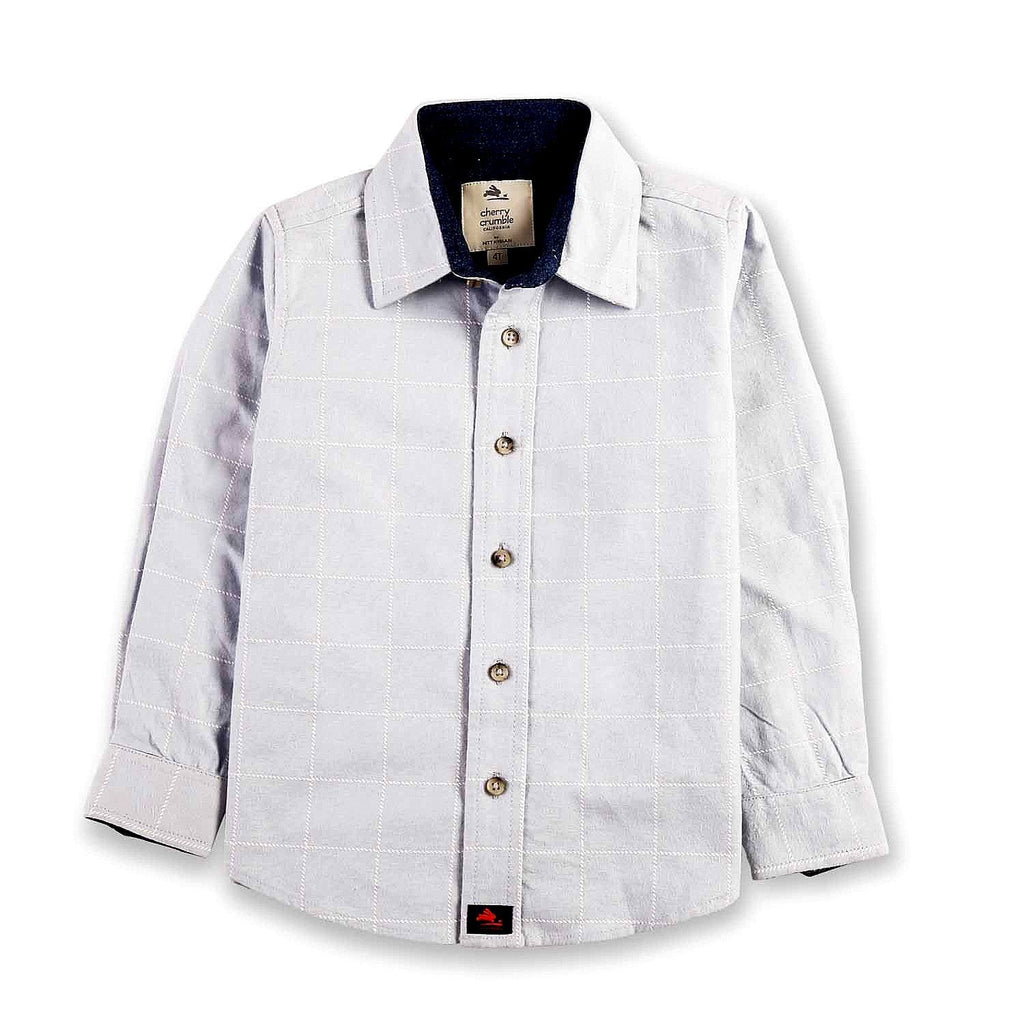 Cotton Detailed Check Shirt for Boys