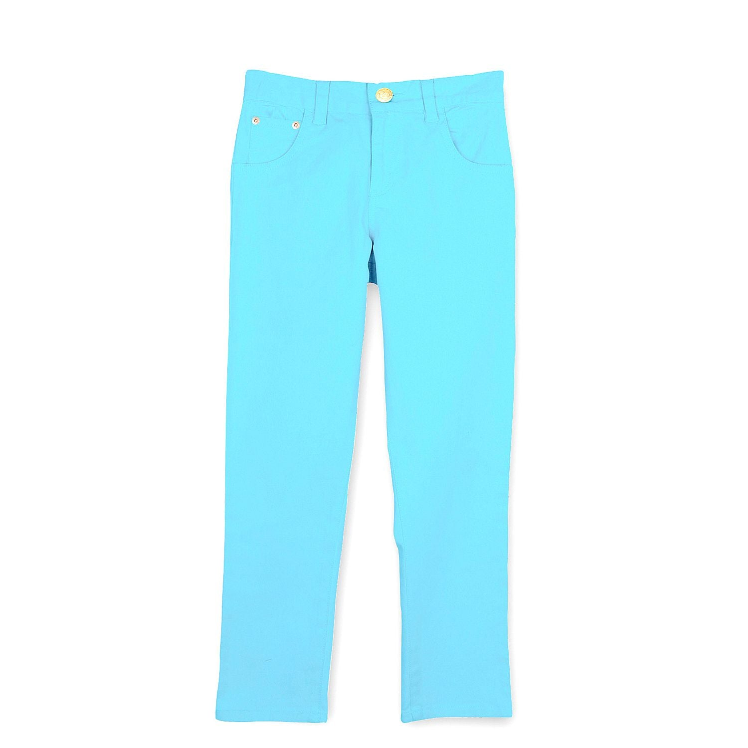 Cotton Twill Sky Blue Jeans for Boys