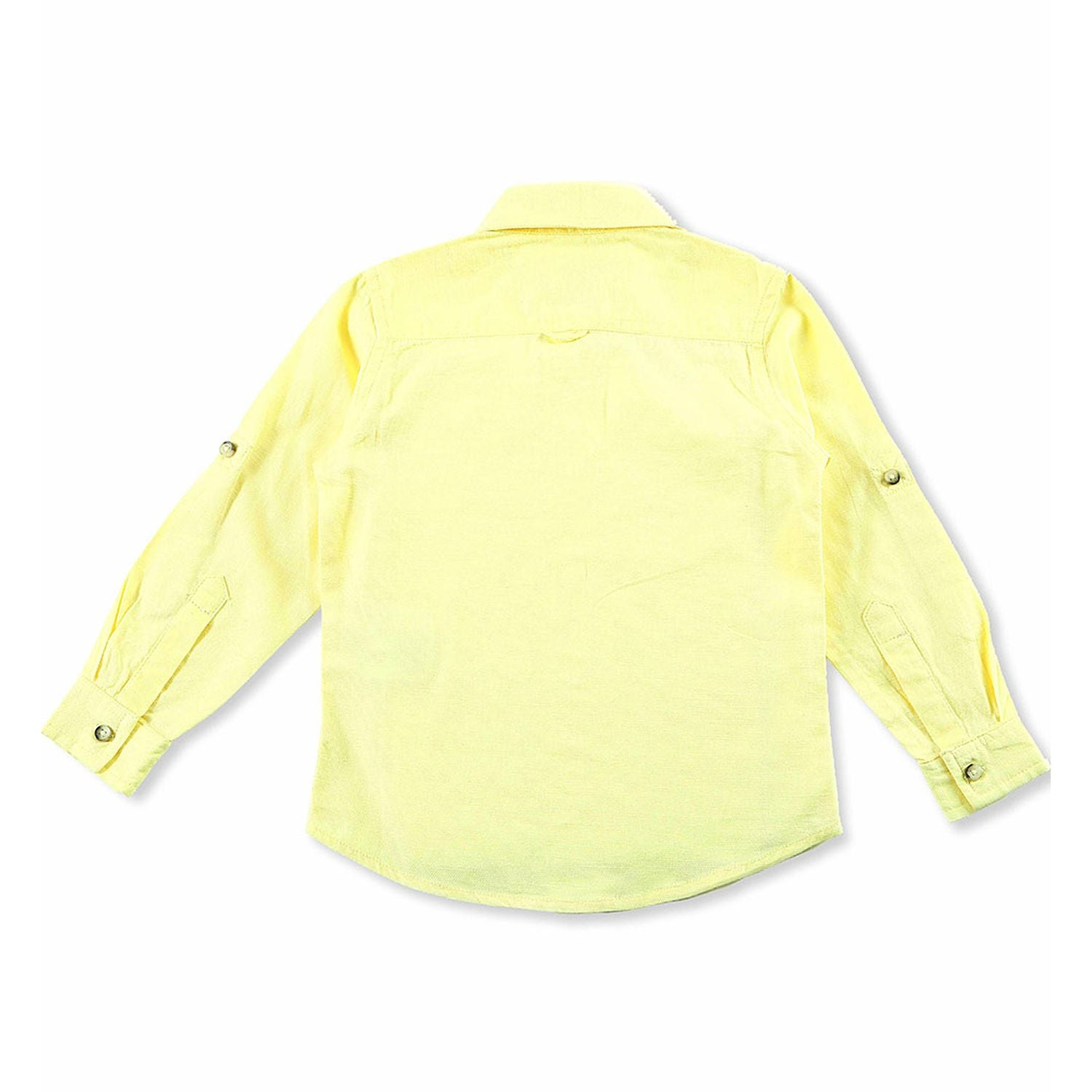 Pure Cotton Lemon Yellow Shirt for Boys