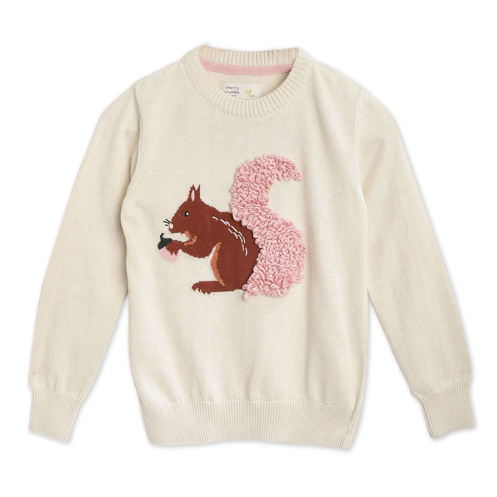 Squirrel Embroidered Sweater