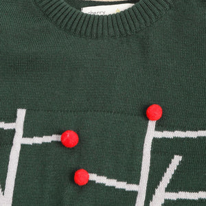 Holiday Pom Pom Sweater