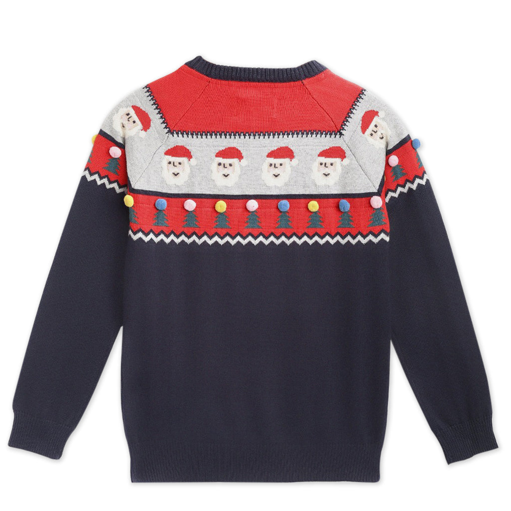 Cherry-Crumble-Kids-Full-Sleeve-Regular-Sleeve-Round-Neck-Aztec-Intersia-Pullover-Sweater