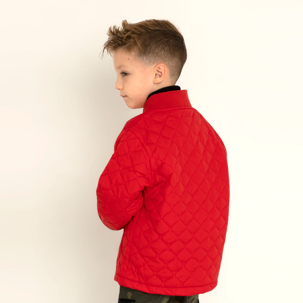 Quirky Quilted Jacket for Boys