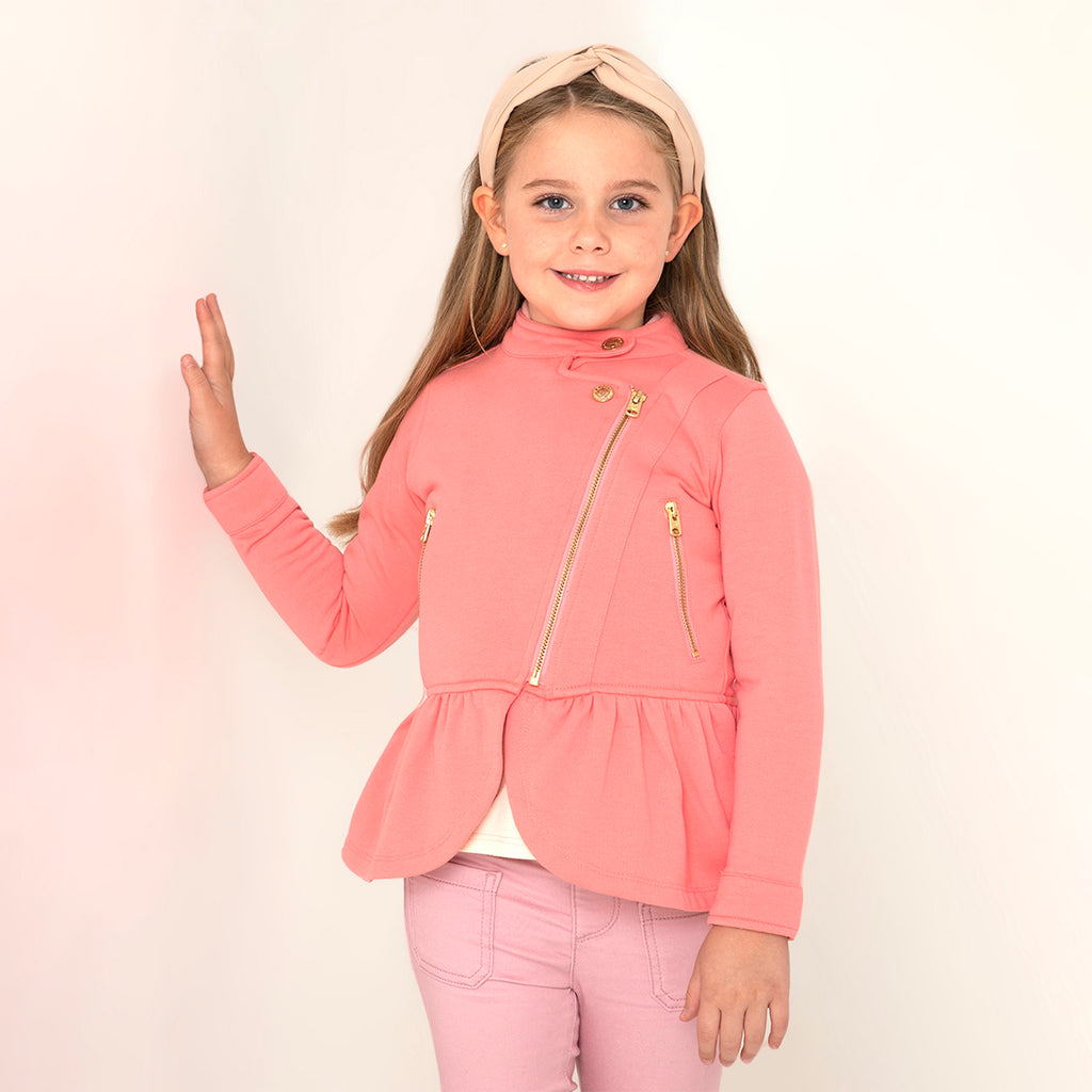 Peplum Moto Jacket for Girls