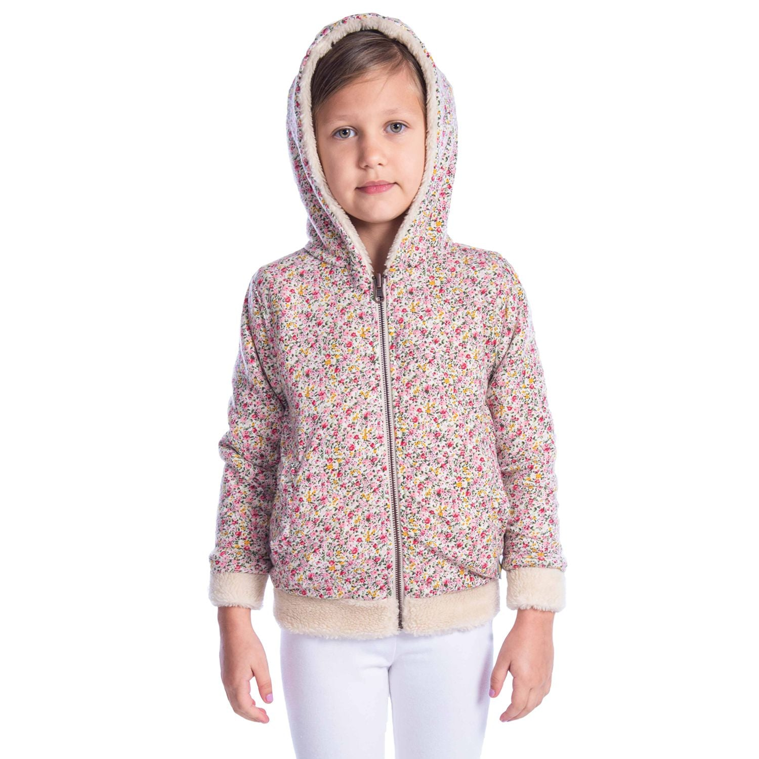 Furry Reversible Jacket for Girls