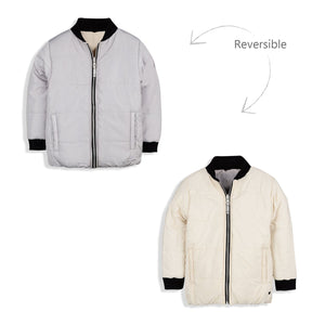 Snowy Bomber Reversible Jacket for kids