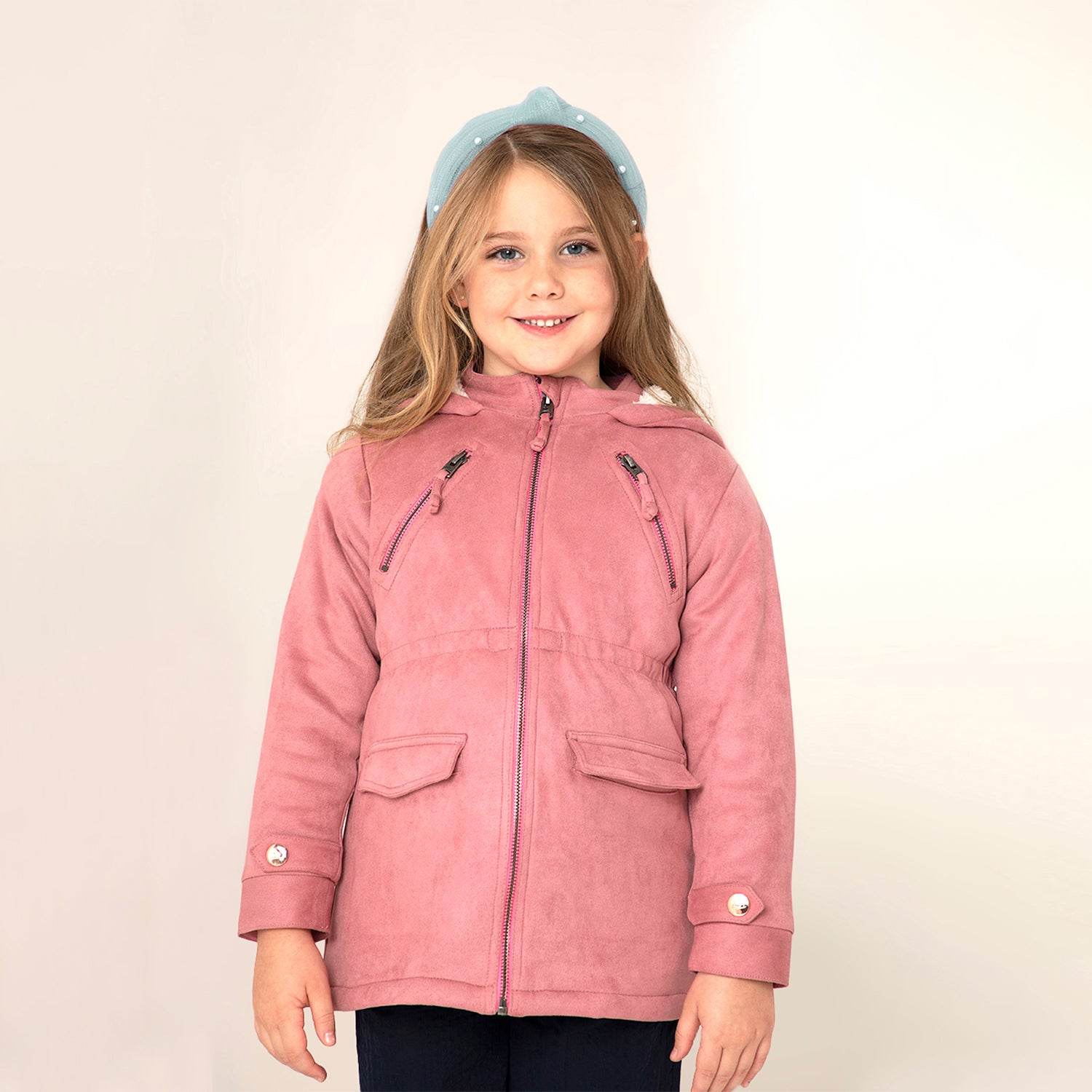 Pastel Longline Jacket for Girls