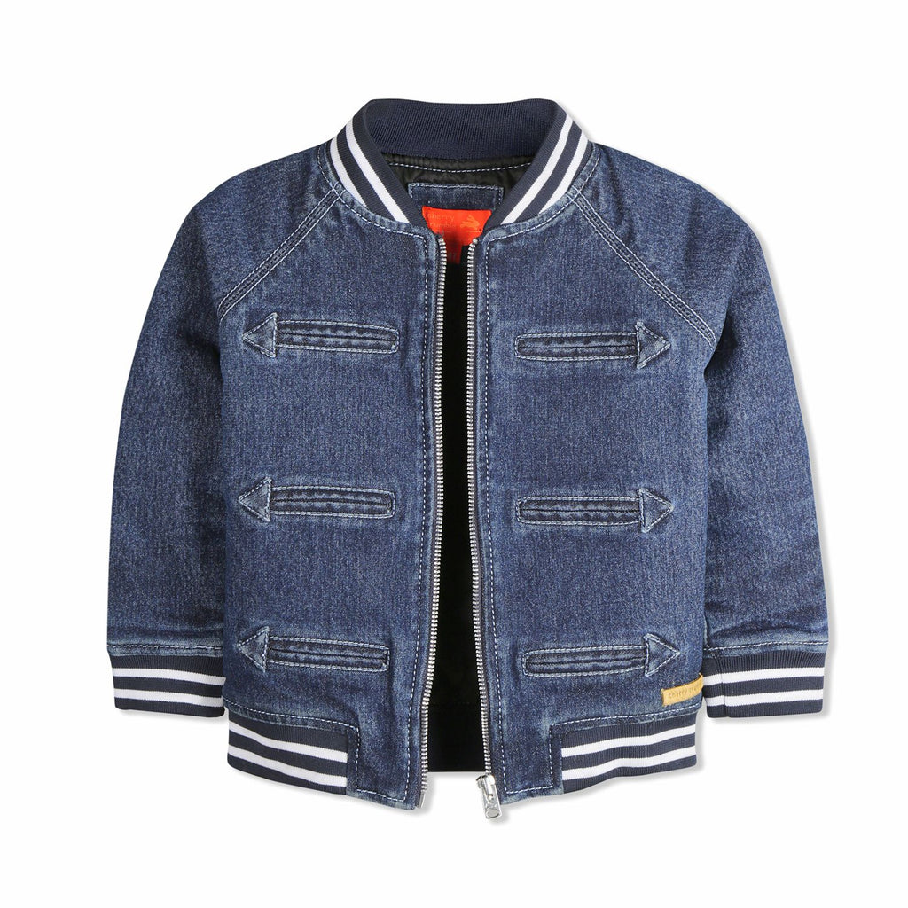 Warm Quilted Denim Jacket for kids