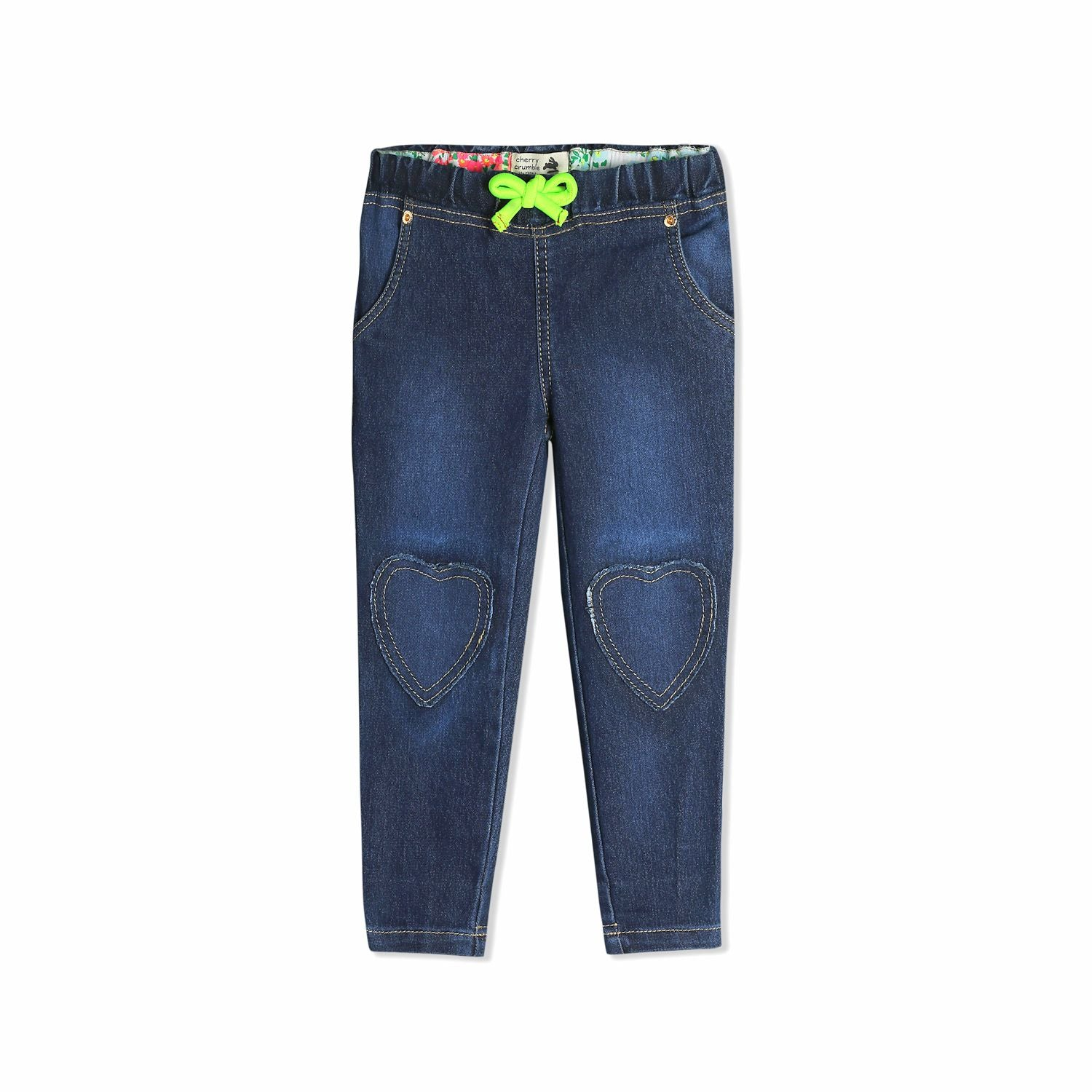 Heart Applique Jeans for Girls
