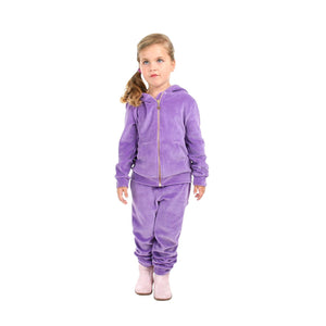 Soft Velour Zipper Top N Bottom Set for Boys
