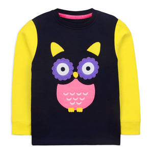 Owl Nightsuit  for Girls