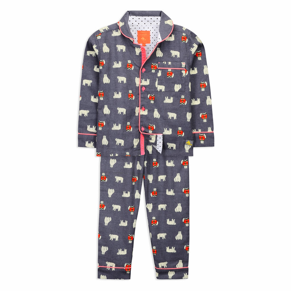 Cozy polarbear Nightsuit for Kids