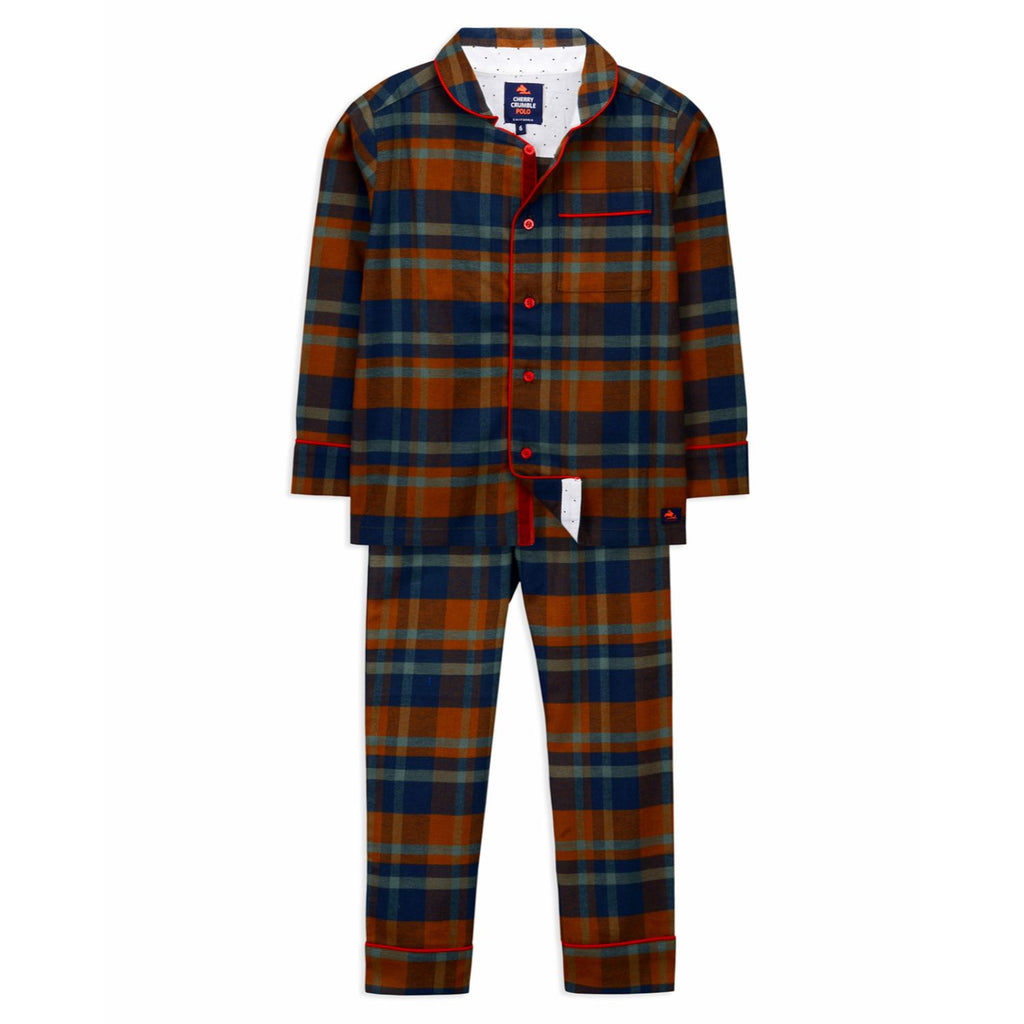 Vintage Checkered Nightsuit for kids