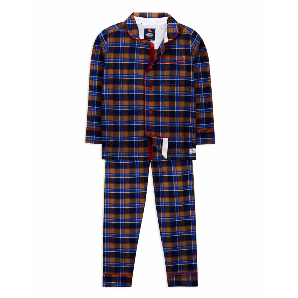 Unisex Madras Check Nightsuit for kids