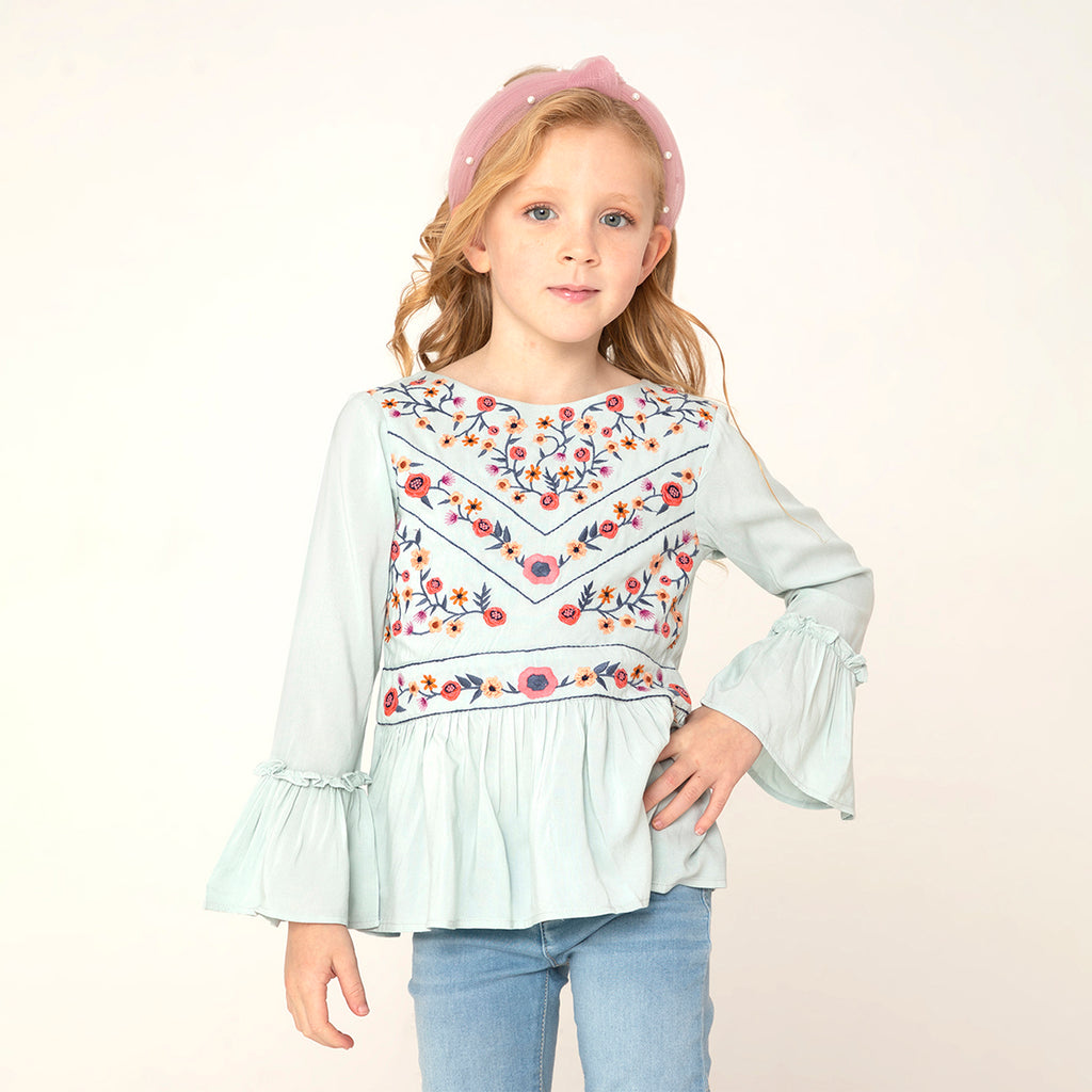Asian Detailed Top For Girls