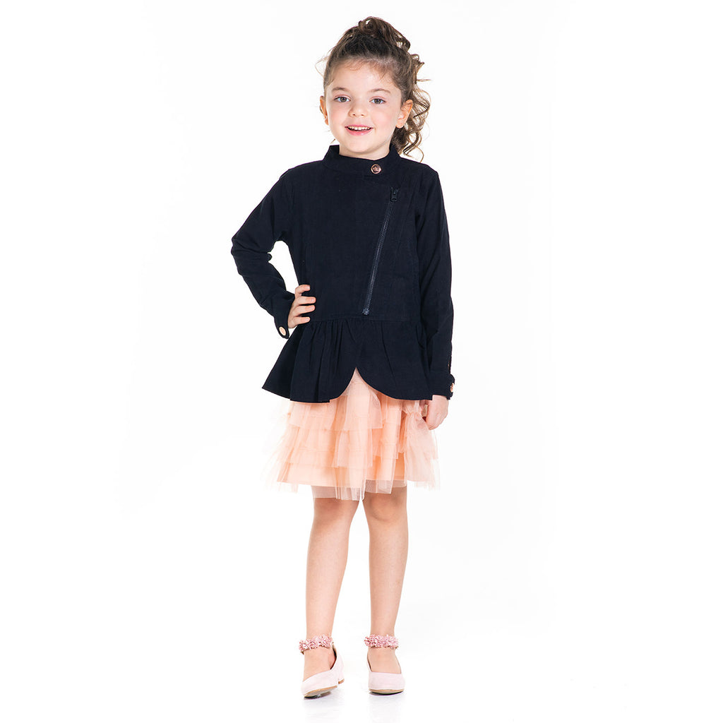 Peplum Party Jacket with Face Mask