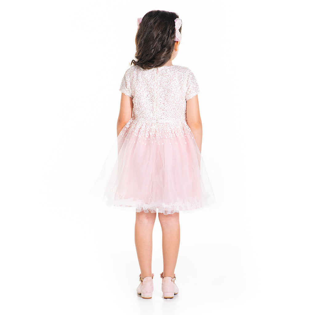 Sequins Candy Dress with Bow and Clip