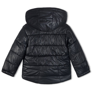 Soft Fleece Lined Puffer Hooded Jacket