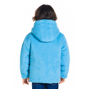 Colorblock Hooded Reversible All-Weather Jacket