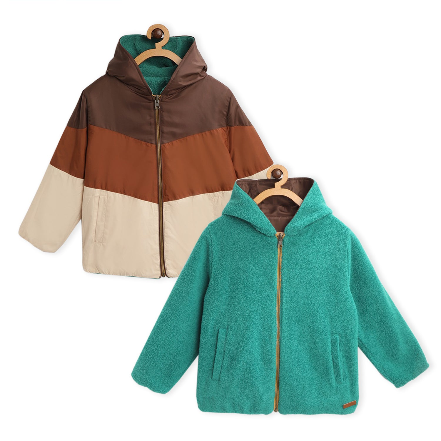 Beaver Hooded Reversible Jacket