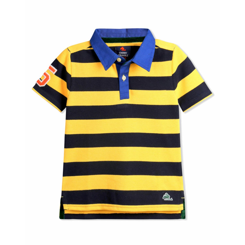 Player Stripe Polo for Boys
