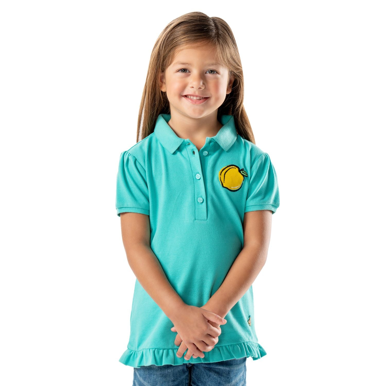 Apricot Polo for Girls