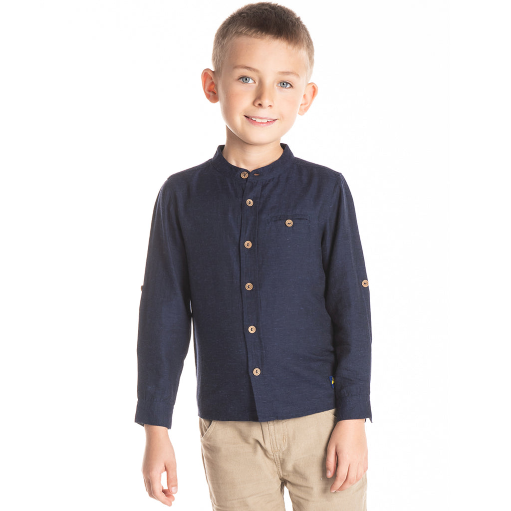 Chinese Collar Shirt for Boys