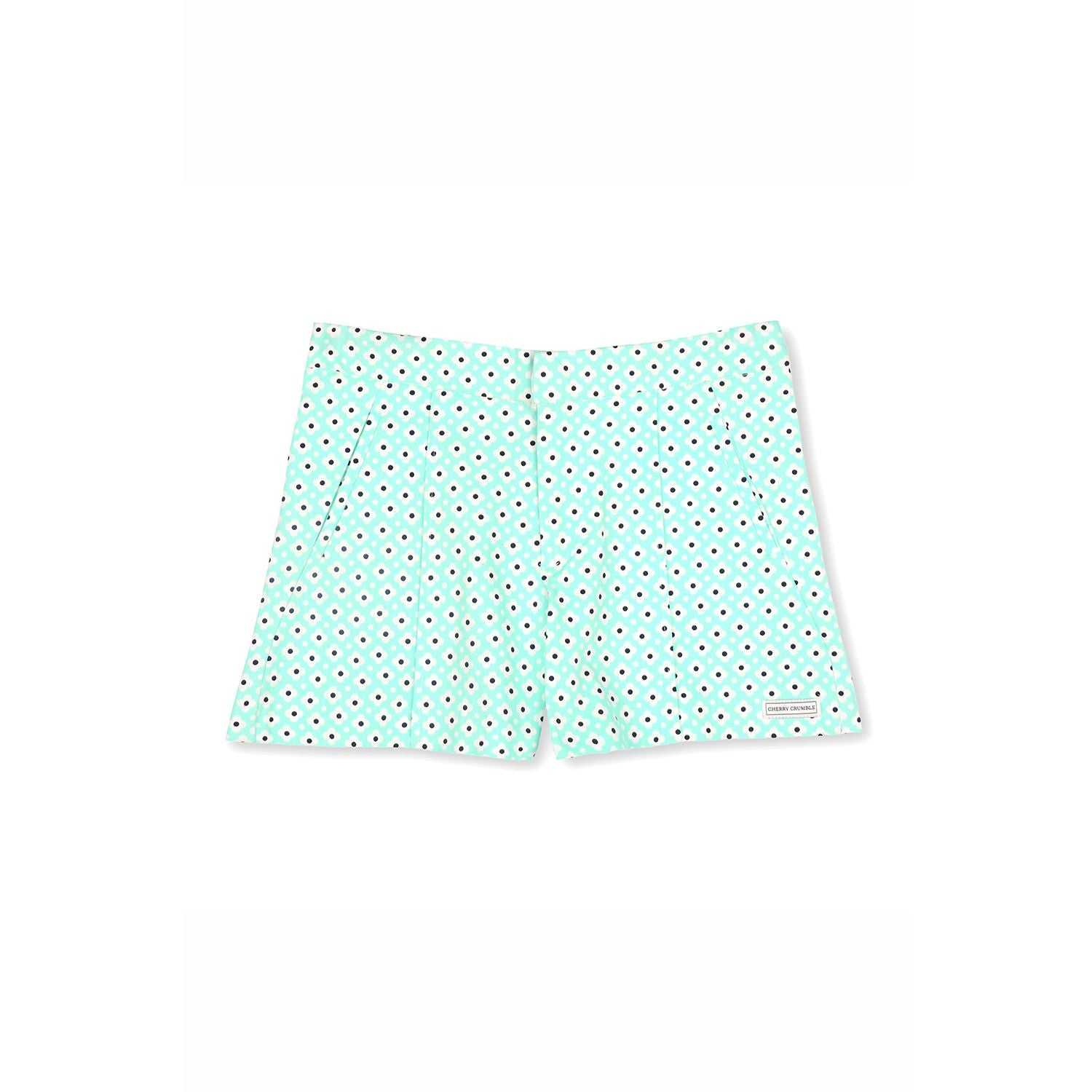 Fine Cotton Printed Shorts for Girls