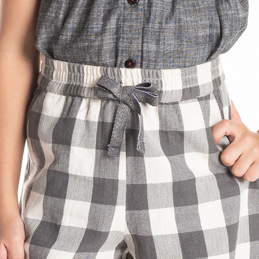 Scalloped Check Shorts for Girls