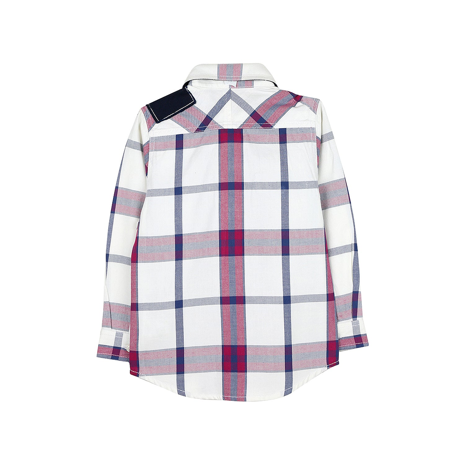 Premium Cotton Checked Patchwork Shirt