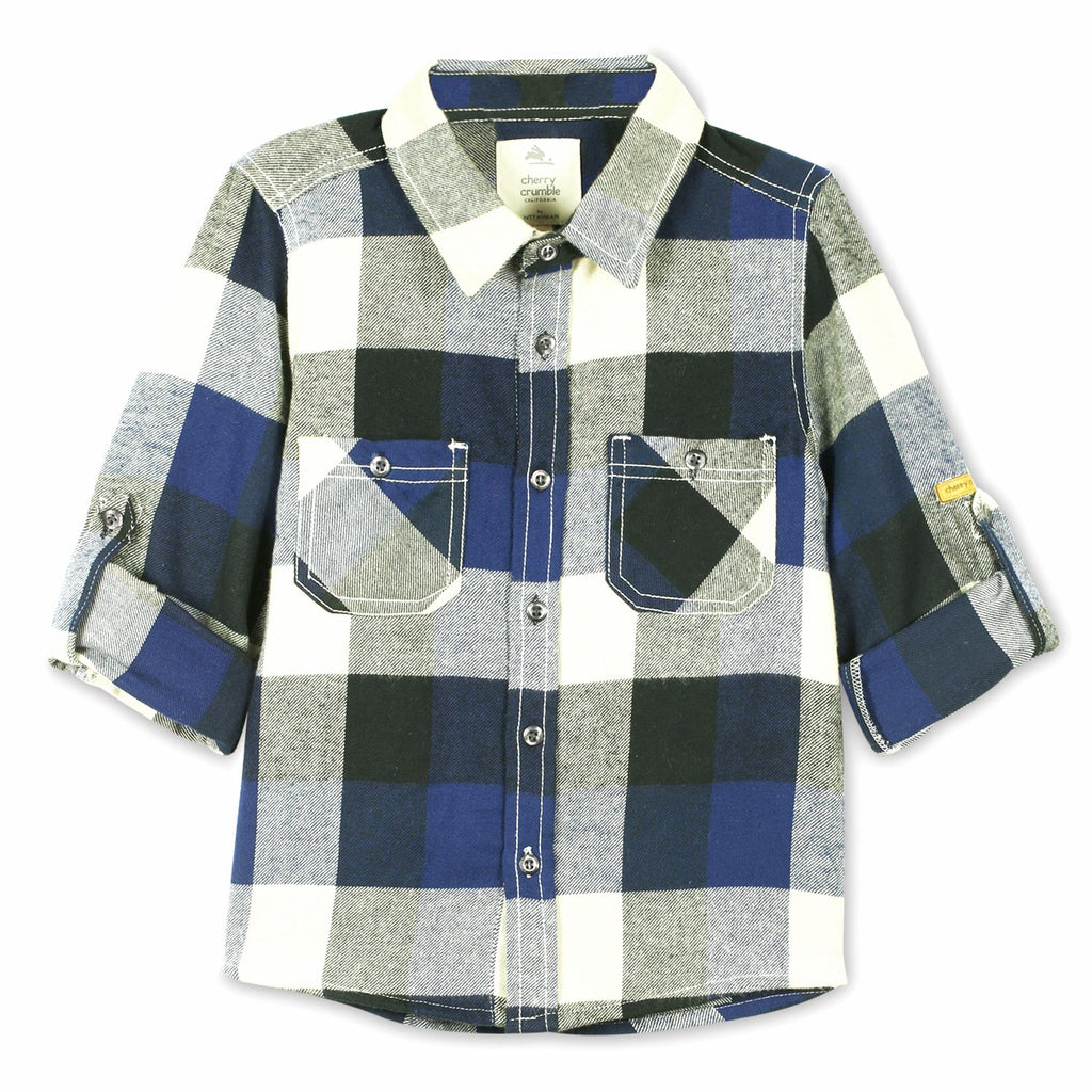 European Check Cotton Shirt for Boys
