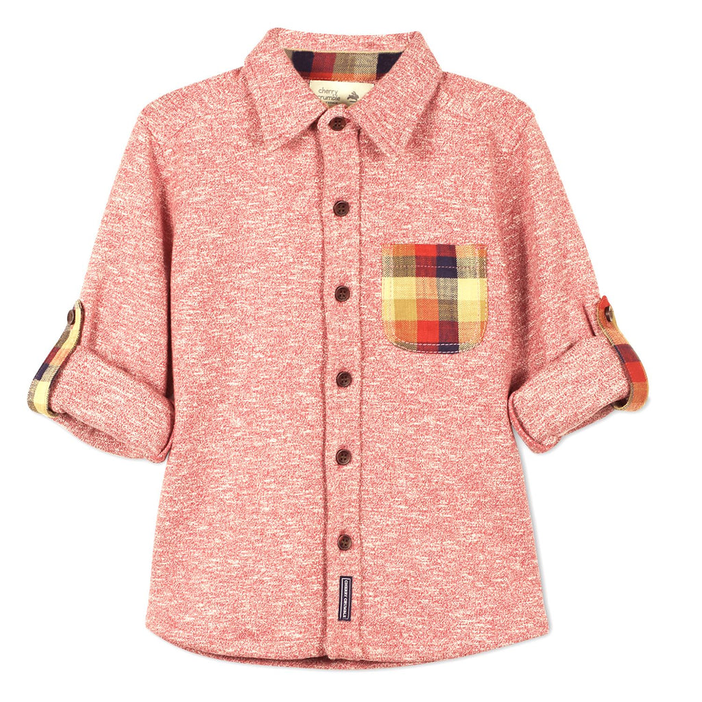 Checkered Pocket Knit Shirt for Boys