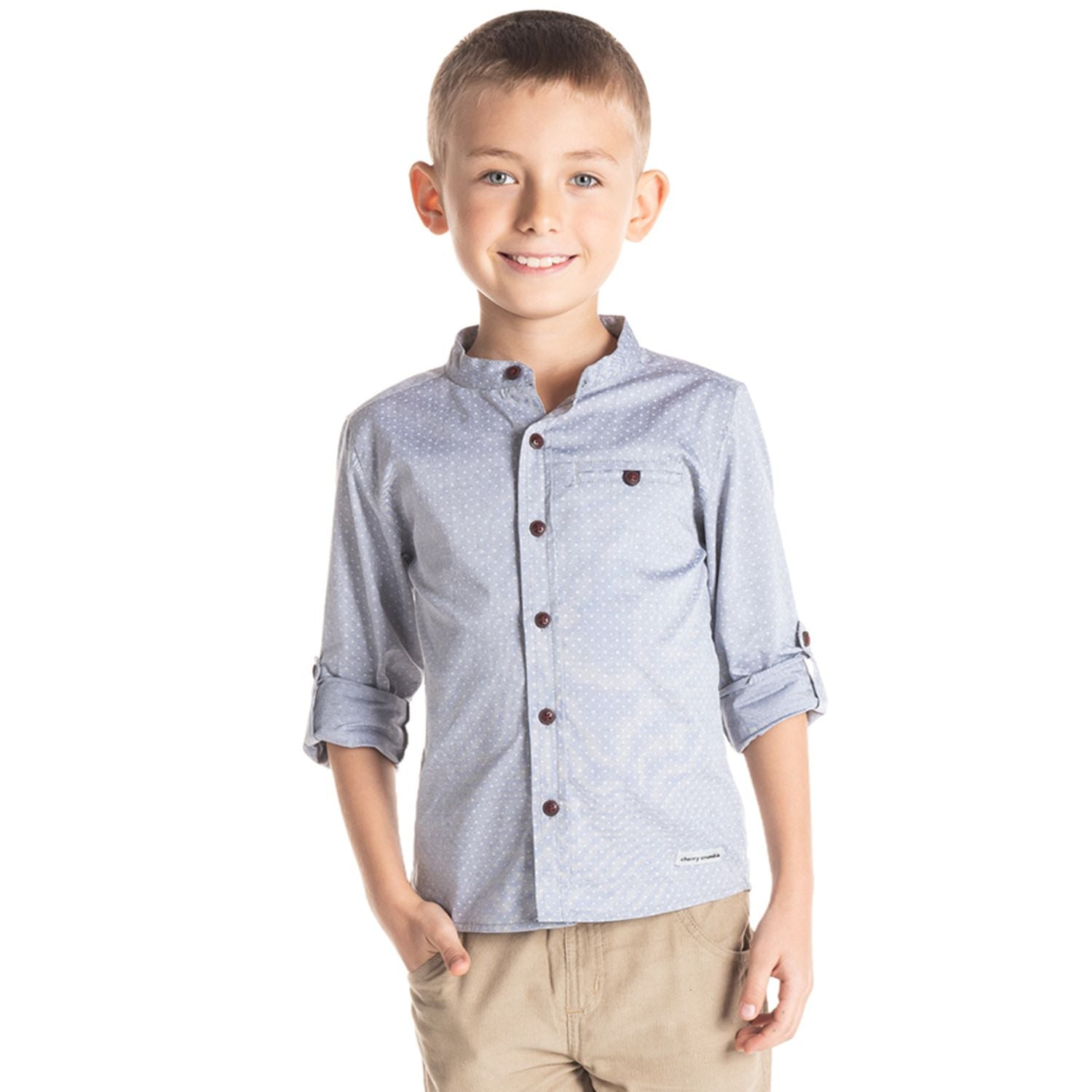 Mandarin Collar Shirt for Boys