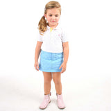 Soft Quilted Light Blue Skirt for Girls