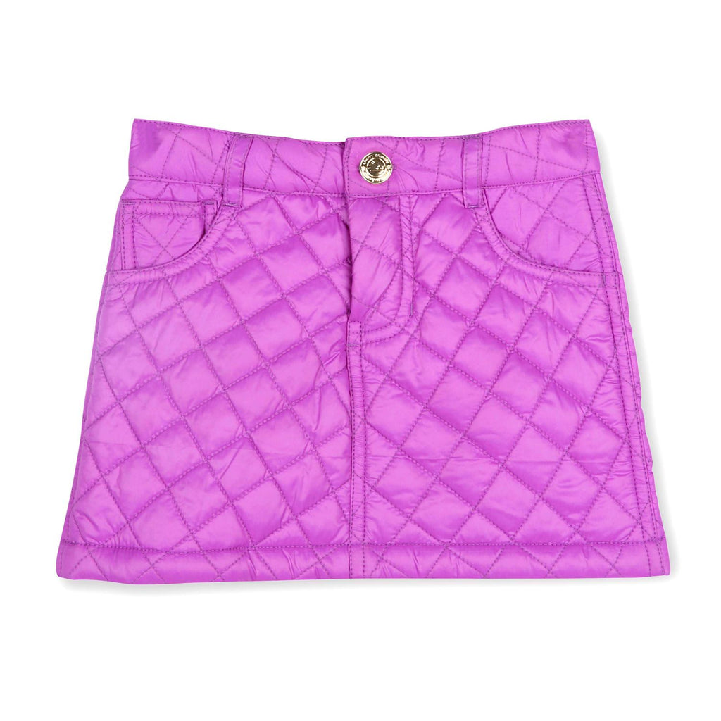 Soft Quilted Purple Skirt for Girls