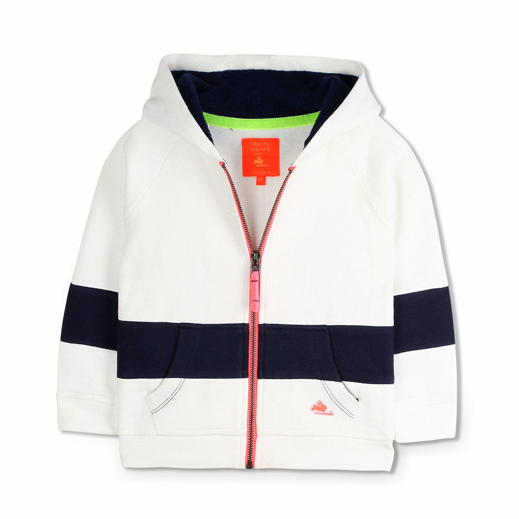Colorblock Zipper Hoodie for Boys