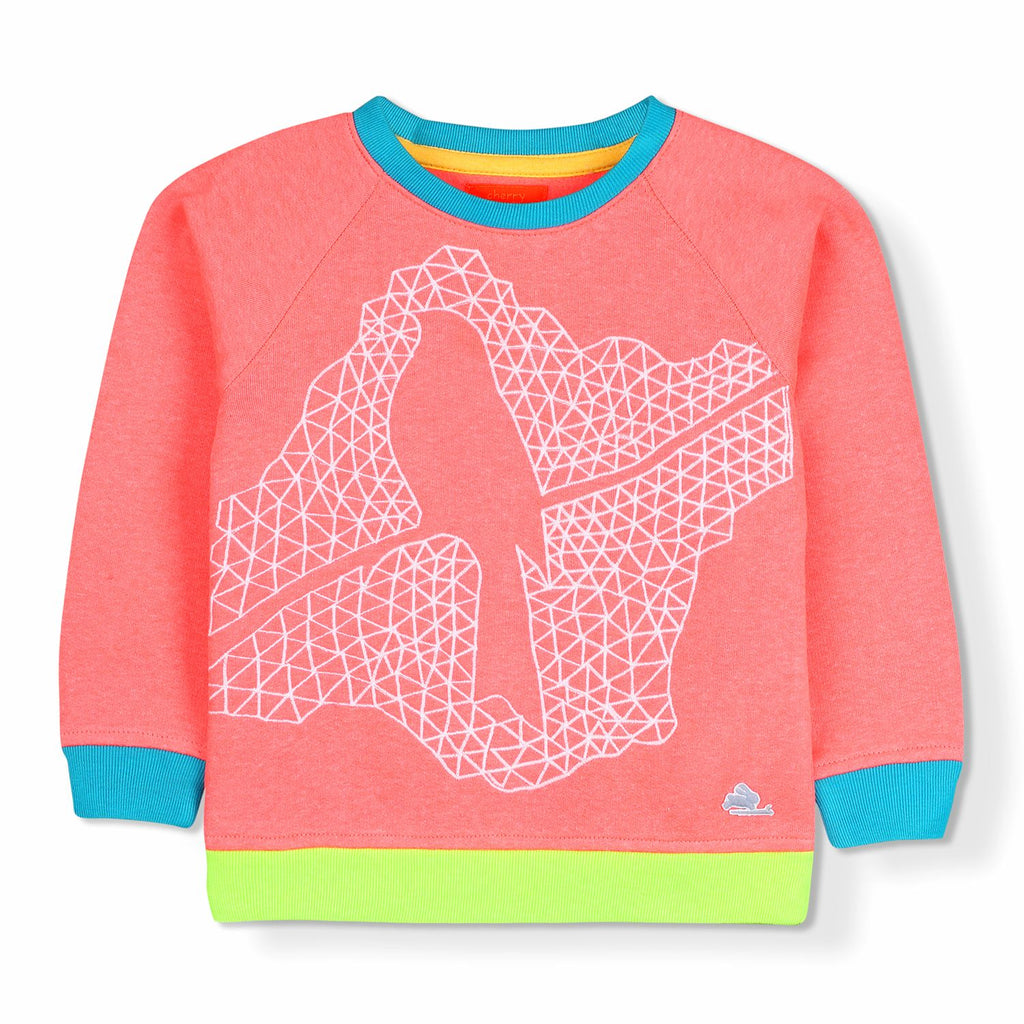 Optical Fauna Sweatshirt for Girls