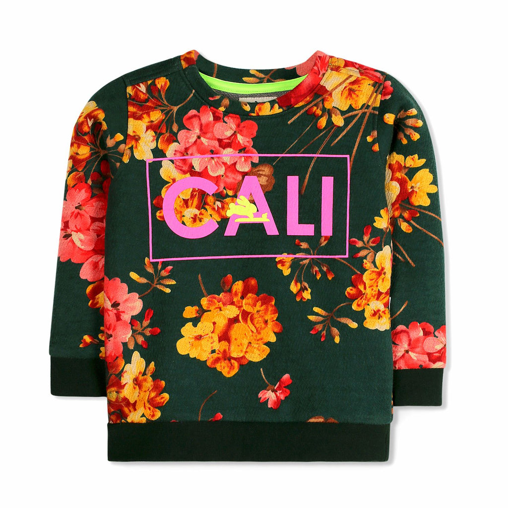 Cali Floral Sweatshirt for Girls