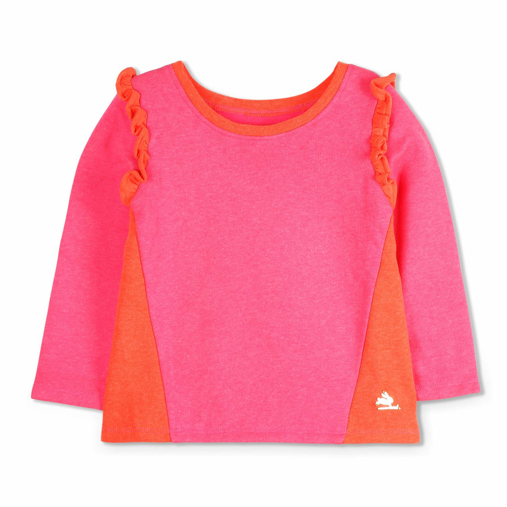 Angular Panel Sweatshirt for Girls