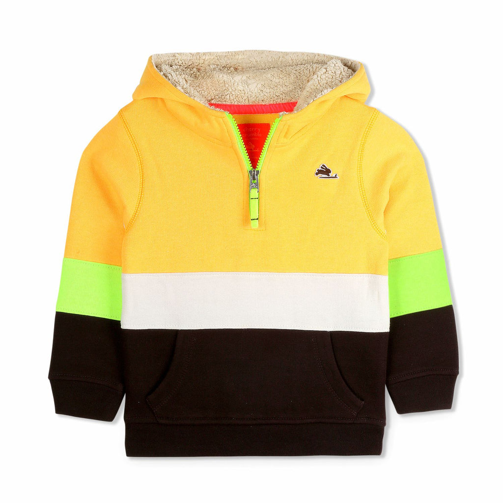 Half Zip Colorblock Hoodie for Boys